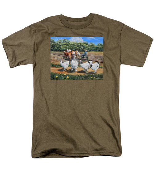 Jacobs Plowing And Light Bramah Chickens Men's T-Shirt  (Regular Fit) by Ruanna Sion Shadd a'Dann'l Yoder