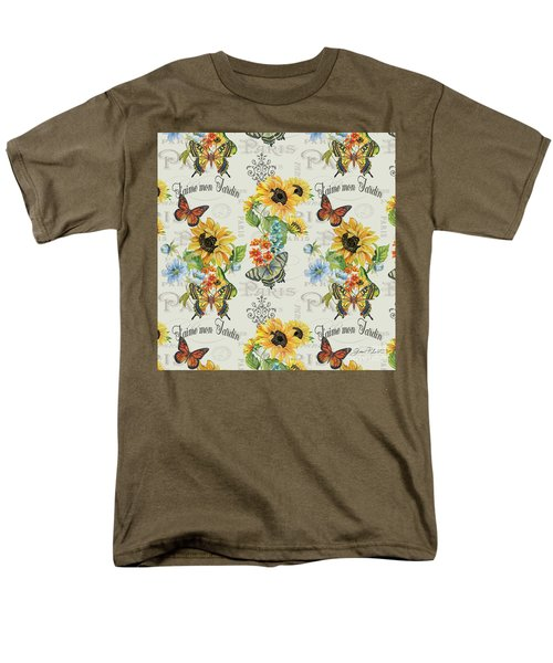 Men's T-Shirt  (Regular Fit) featuring the painting Jaime Mon Jardin-jp3989 by Jean Plout