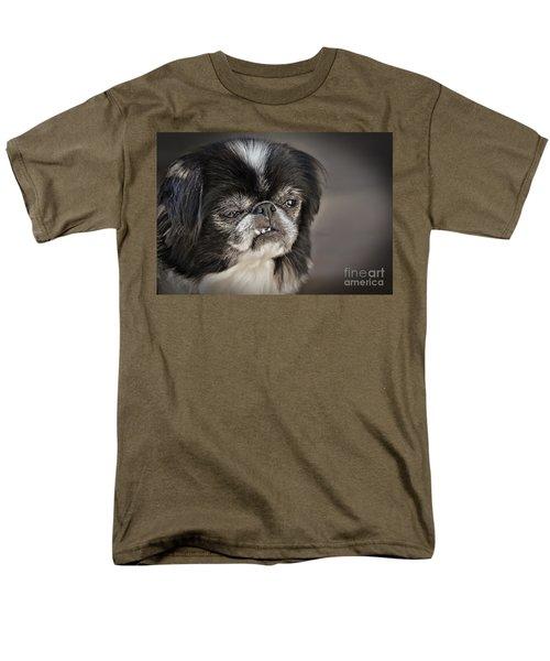 Japanese Chin Doggie Portrait Men's T-Shirt  (Regular Fit) by Jim Fitzpatrick