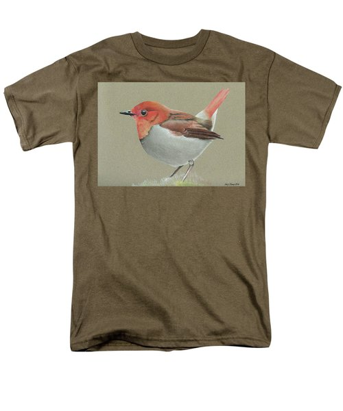 Men's T-Shirt  (Regular Fit) featuring the drawing Japanese Robin by Gary Stamp