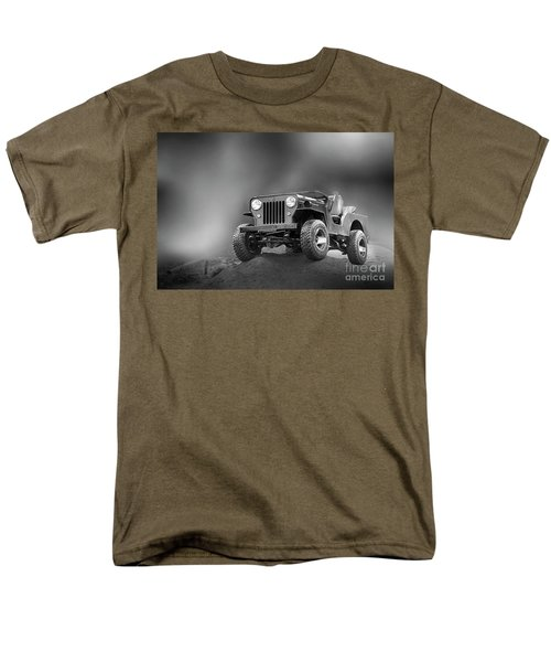Men's T-Shirt  (Regular Fit) featuring the photograph Jeep Bw by Charuhas Images