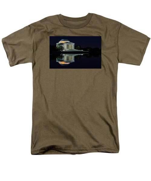 The Jefferson At Night Men's T-Shirt  (Regular Fit) by Ed Clark
