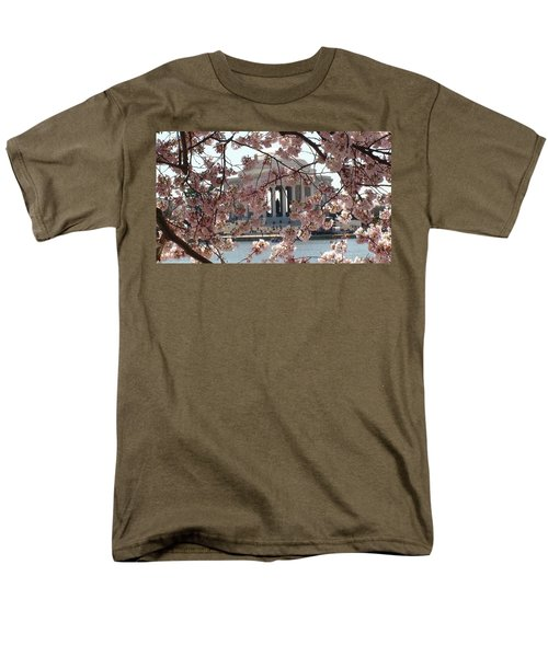 Jefferson Through The Cherry Blossoms Men's T-Shirt  (Regular Fit) by Charles Kraus