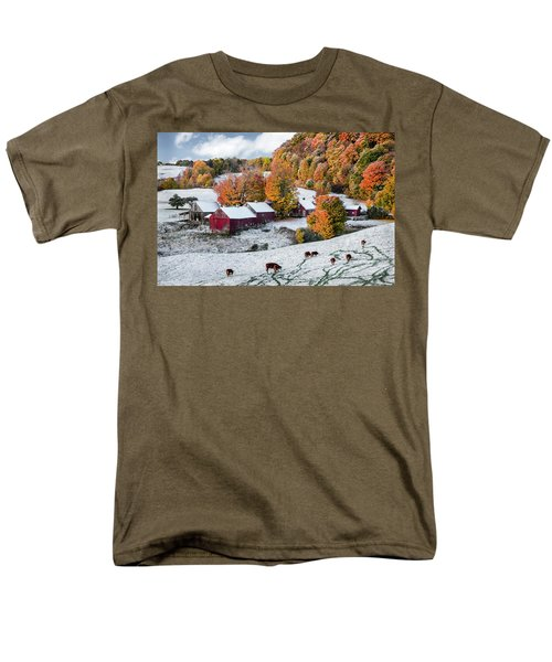 Men's T-Shirt  (Regular Fit) featuring the photograph Jenne Farm, Reading, Vt by Betty Denise