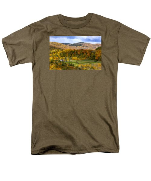 Men's T-Shirt  (Regular Fit) featuring the photograph Jenne Farms Neighbor Reading Vt by Betty Denise