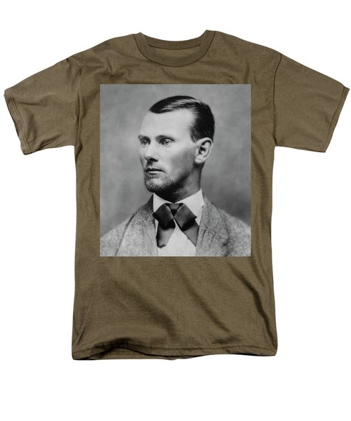 Jesse James -- American Outlaw Men's T-Shirt  (Regular Fit) by Daniel Hagerman