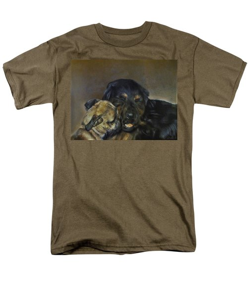 Men's T-Shirt  (Regular Fit) featuring the painting Jim And Ozzy by Cherise Foster
