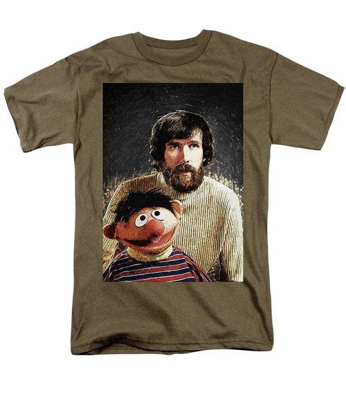Men's T-Shirt  (Regular Fit) featuring the digital art Jim Henson With Ernie by Taylan Apukovska
