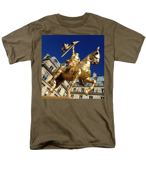Men's T-Shirt  (Regular Fit) featuring the photograph Joan Of Arc - Paris by Therese Alcorn