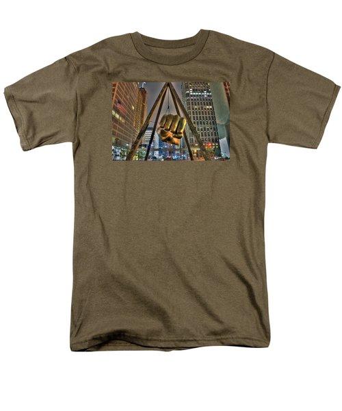 Joe Louis Fist Detroit Mi Men's T-Shirt  (Regular Fit) by Nicholas  Grunas