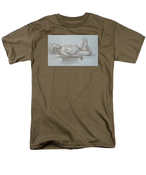 Men's T-Shirt  (Regular Fit) featuring the drawing Joey Reclining #1 by Donelli  DiMaria