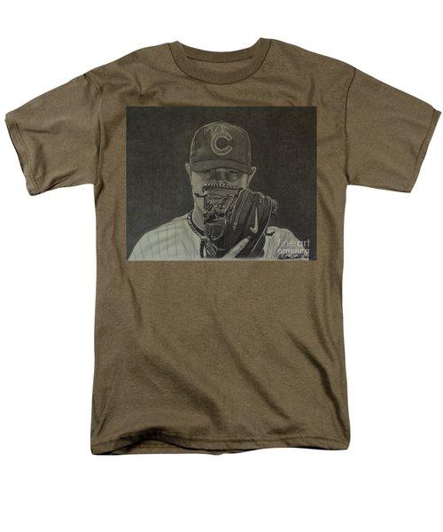 Jon Lester Portrait Men's T-Shirt  (Regular Fit) by Melissa Goodrich
