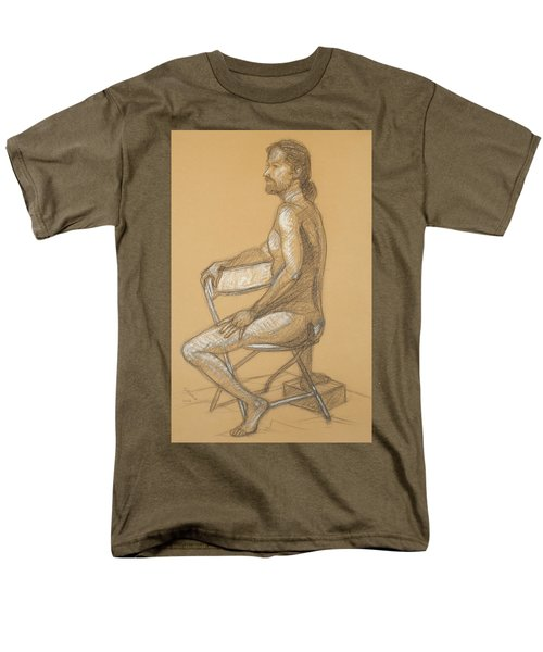 Men's T-Shirt  (Regular Fit) featuring the drawing Joseph - Seated by Donelli  DiMaria