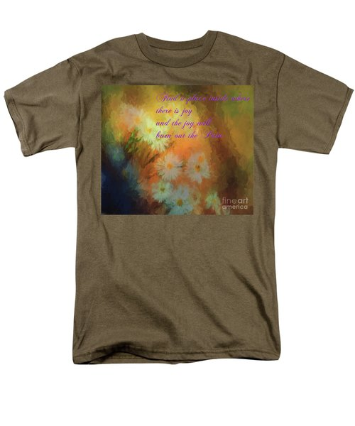 Men's T-Shirt  (Regular Fit) featuring the mixed media Joy by Jim  Hatch