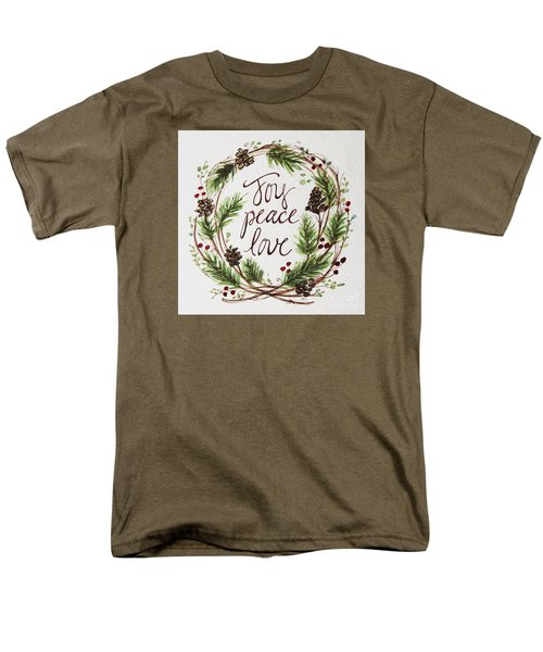 Joy, Peace, Love Men's T-Shirt  (Regular Fit) by Elizabeth Robinette Tyndall
