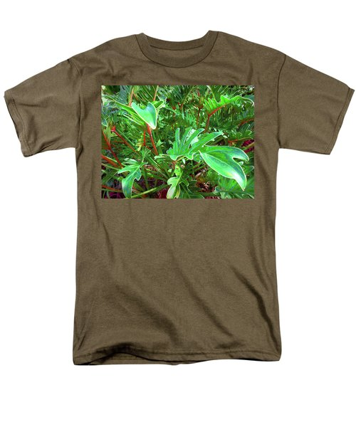 Men's T-Shirt  (Regular Fit) featuring the photograph Jungle Greenery by Ginny Schmidt