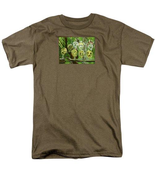 Men's T-Shirt  (Regular Fit) featuring the digital art Jungle Spirits by Jean Pacheco Ravinski