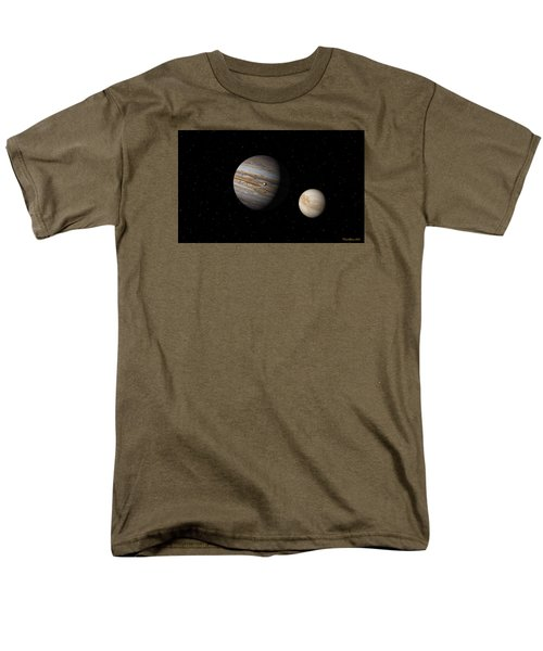 Jupiter With Io And Europa Men's T-Shirt  (Regular Fit) by David Robinson