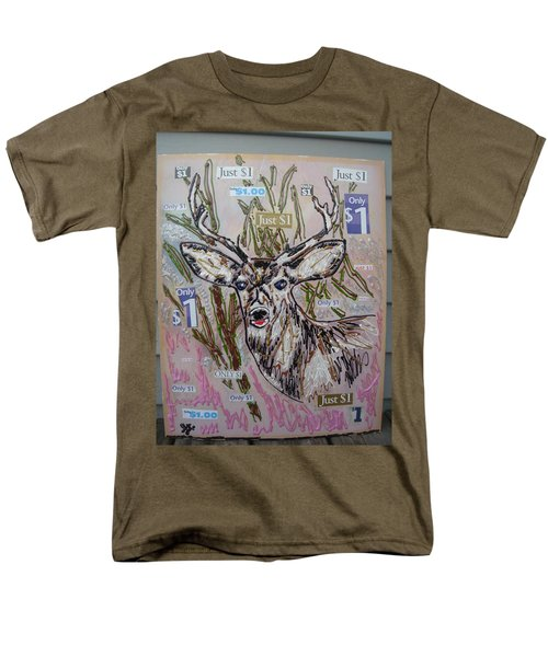 Men's T-Shirt  (Regular Fit) featuring the painting Just A Buck by Lisa Piper