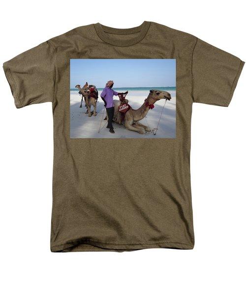 Just Married Camels Kenya Beach 2 Men's T-Shirt  (Regular Fit) by Exploramum Exploramum