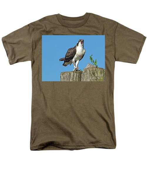 Juvenile Osprey#1 Men's T-Shirt  (Regular Fit) by Geraldine DeBoer