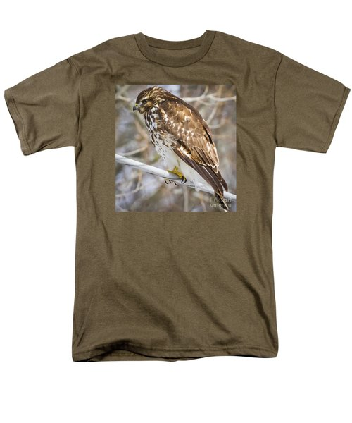 Men's T-Shirt  (Regular Fit) featuring the photograph Juvenile Red-shouldered Hawk  by Ricky L Jones