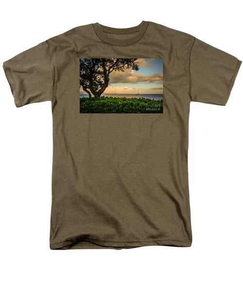 Ka'anapali Plumeria Tree Men's T-Shirt  (Regular Fit) by Kelly Wade