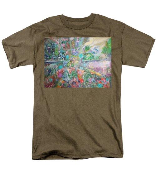 Kaleidoscope Fairies Too Men's T-Shirt  (Regular Fit) by Judith Desrosiers