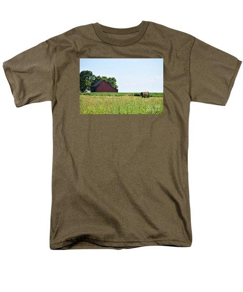 Men's T-Shirt  (Regular Fit) featuring the photograph Kansas Barn by Mark McReynolds