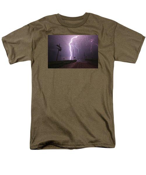 Kansas Lightning Men's T-Shirt  (Regular Fit) by Ryan Crouse