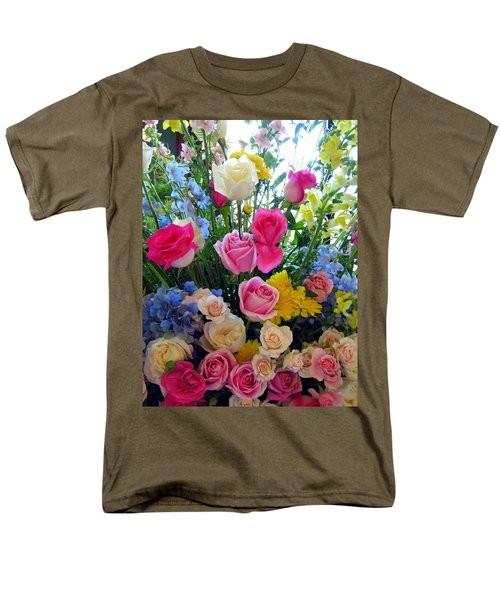 Kate's Flowers Men's T-Shirt  (Regular Fit) by Carla Parris