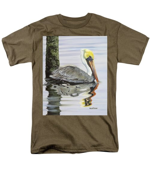 Kathy's Pelican Men's T-Shirt  (Regular Fit) by Phyllis Beiser