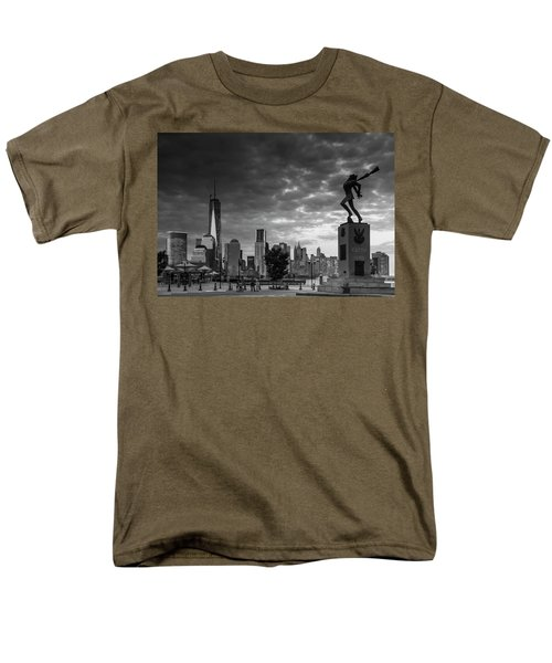 Men's T-Shirt  (Regular Fit) featuring the photograph Katyn New World Trade Center In New York by Ranjay Mitra