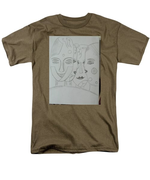 Men's T-Shirt  (Regular Fit) featuring the drawing Keeper Of Secrets by Sharyn Winters
