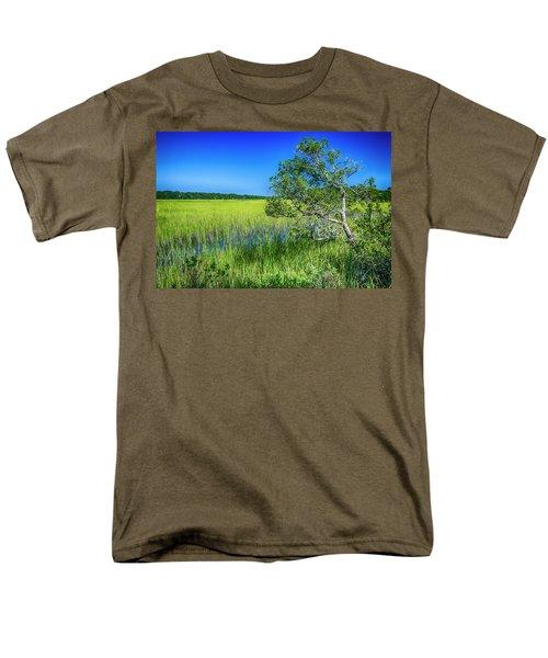 Kent Mitchell Nature Trail, Bald Head Island Men's T-Shirt  (Regular Fit)