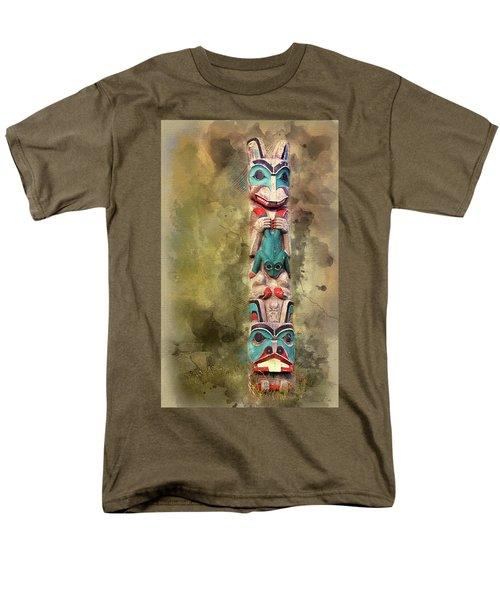 Ketchikan Alaska Totem Pole Men's T-Shirt  (Regular Fit)