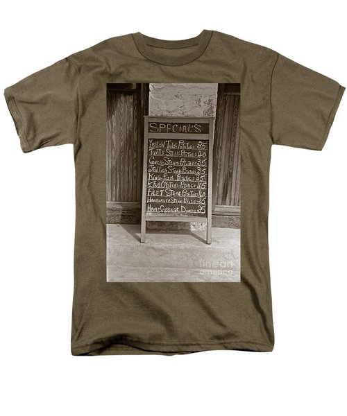Men's T-Shirt  (Regular Fit) featuring the photograph Key West Depression Era Restaurant Specials by John Stephens