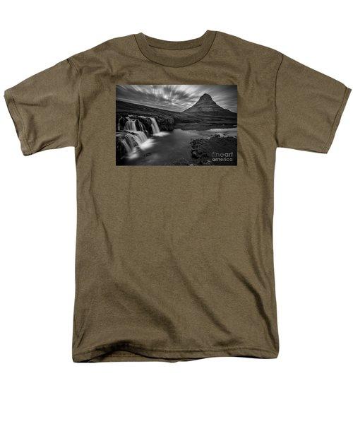 Kirkufellsfoss  Men's T-Shirt  (Regular Fit) by Gunnar Orn Arnason