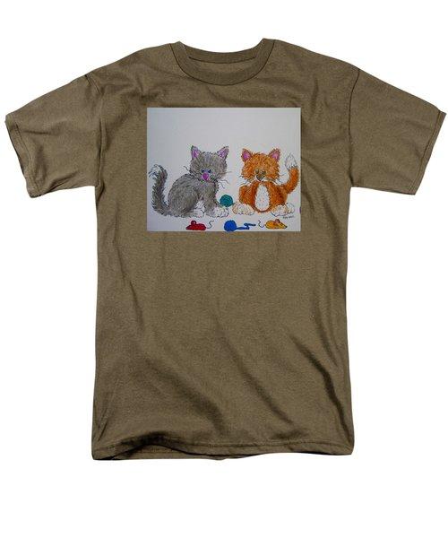 Men's T-Shirt  (Regular Fit) featuring the drawing Kitt And Katt by Megan Walsh