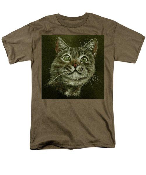 Men's T-Shirt  (Regular Fit) featuring the drawing Kitty Cat by Heidi Kriel