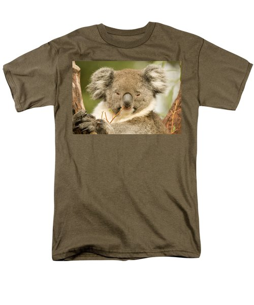 Koala Snack Men's T-Shirt  (Regular Fit) by Mike  Dawson