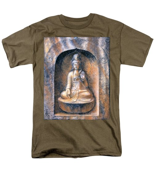 Men's T-Shirt  (Regular Fit) featuring the painting Kuan Yin Meditating by Sue Halstenberg