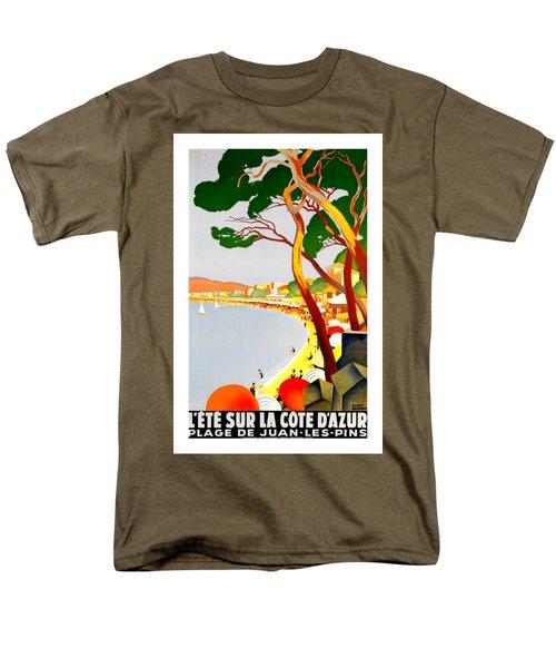 La Cote D Azur French Riviera 1930 Roger Broders Men's T-Shirt  (Regular Fit) by Peter Gumaer Ogden Collection