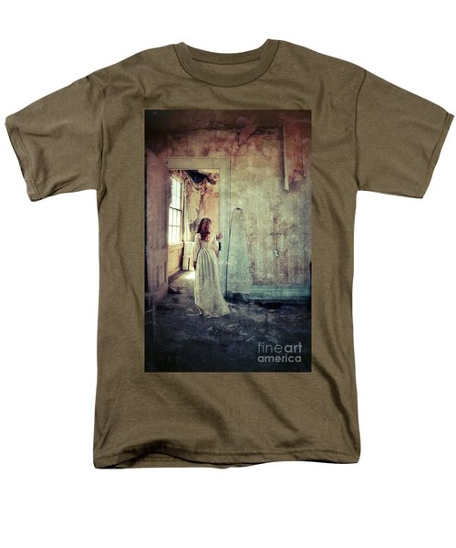 Lady In An Old Abandoned House Men's T-Shirt  (Regular Fit) by Jill Battaglia