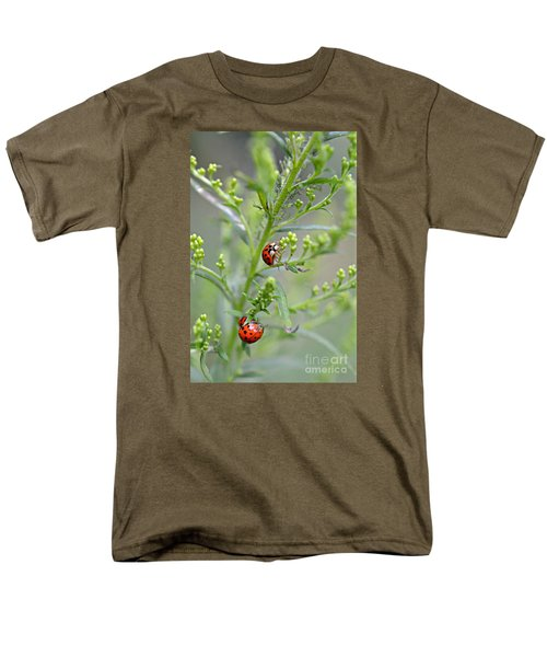Men's T-Shirt  (Regular Fit) featuring the photograph Ladybug Ladybug... by Lila Fisher-Wenzel