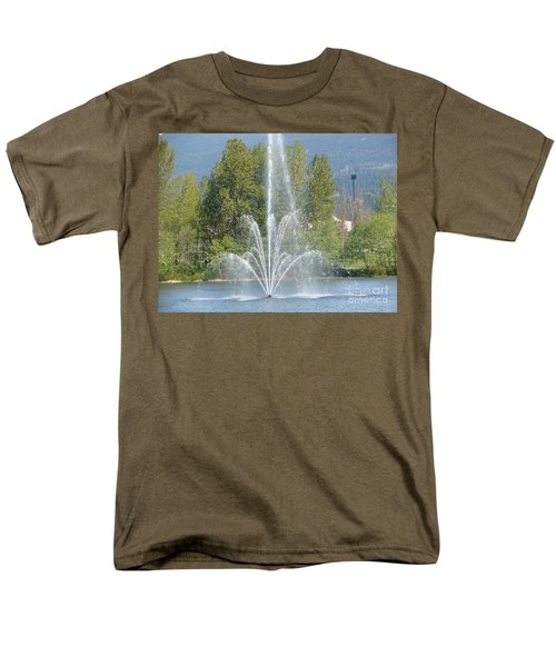 Men's T-Shirt  (Regular Fit) featuring the painting Lafarge Lake Fountain by Rod Jellison