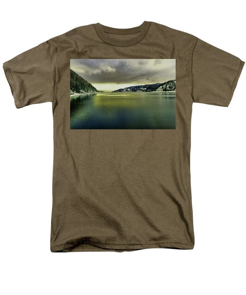 Men's T-Shirt  (Regular Fit) featuring the photograph Lake Coeur D' Alene by Jeff Swan