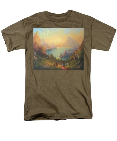 Lake Town Thirteen Dwarves And A Hobbit Named Bilbo Men's T-Shirt  (Regular Fit) by Joe  Gilronan
