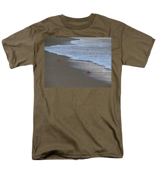 Lamu Island - Crabs Playing At Sunset 4 Men's T-Shirt  (Regular Fit) by Exploramum Exploramum