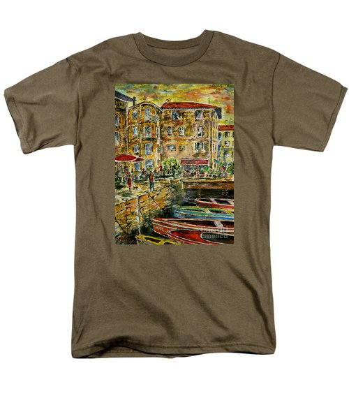 Land And Water And People Therebetween Men's T-Shirt  (Regular Fit) by Alfred Motzer
